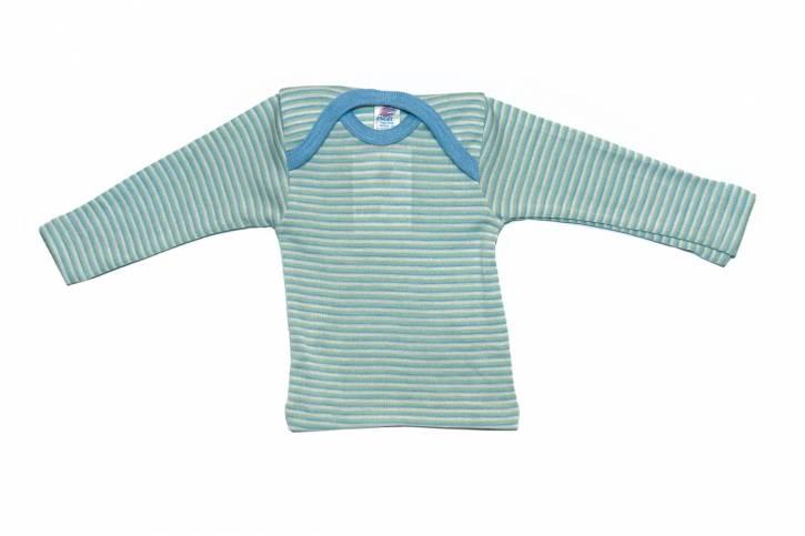 Baby Schlupfhemd langarm von Engel bleu/mint/natur / 62/68