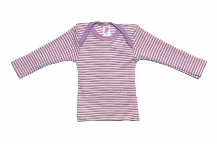 Baby Schlupfhemd langarm von Engel flieder/berry/natur / 62/68
