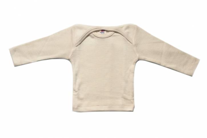 Baby Schlupfhemd langarm aus Schurwolle/Seide von Engel natur / 62/68