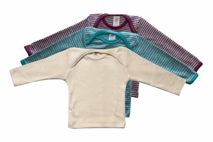 Baby Schlupfhemd langarm aus Schurwolle/Seide von Engel