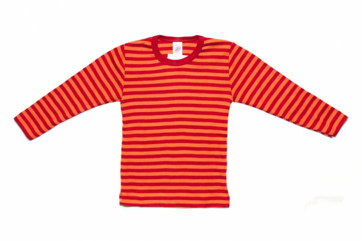 Kinder Shirt langarm von Engel kirschrot/orange / 92