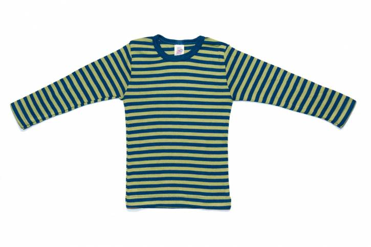 Kinder Shirt langarm von Engel light-ocean/kiwi / 104