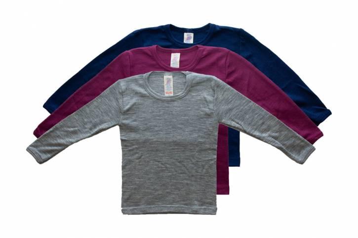 Kinder Shirt langarm aus Schurwolle/Seide von Engel