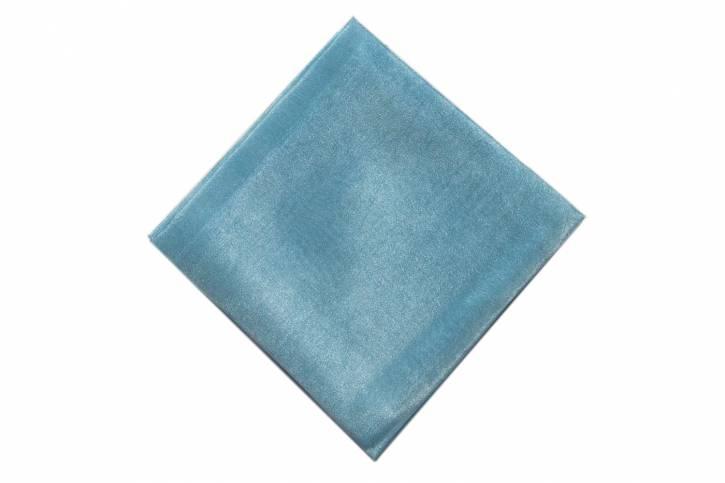 Seidentuch pflanzengefärbt von Filges hellblau