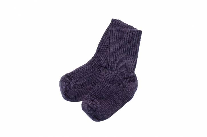 Socke Grobstrick von Hirsch Natur marine / 15-17