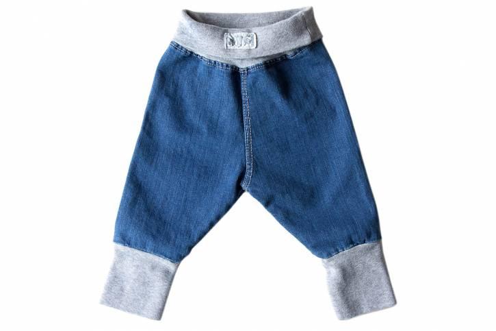 Jeans - Nabelbund Hose mit Bündchen aus Bio-Baumwolle von Lilano