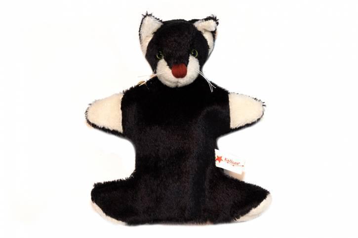Handpuppe Katze klein von Kallisto schwarz