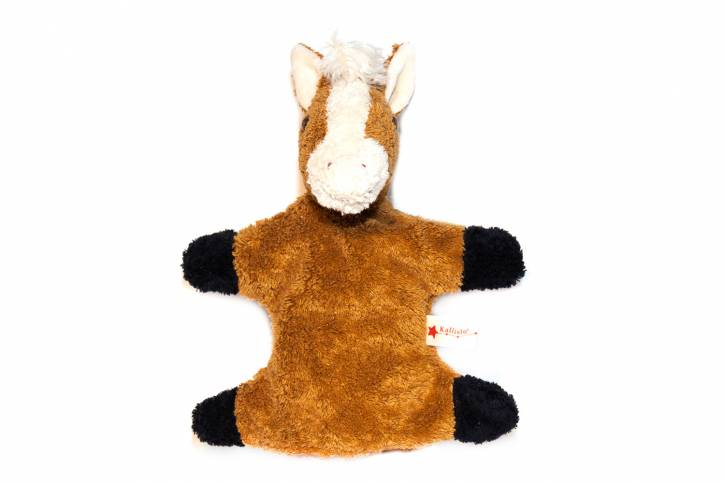 Handpuppe Pferd von Kallisto braun