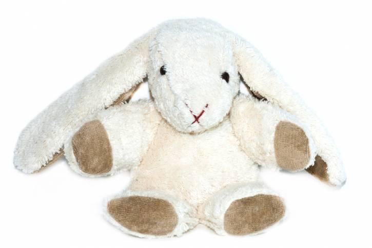 Kuscheltier Hase Knuffel vegan von Kallisto weiß