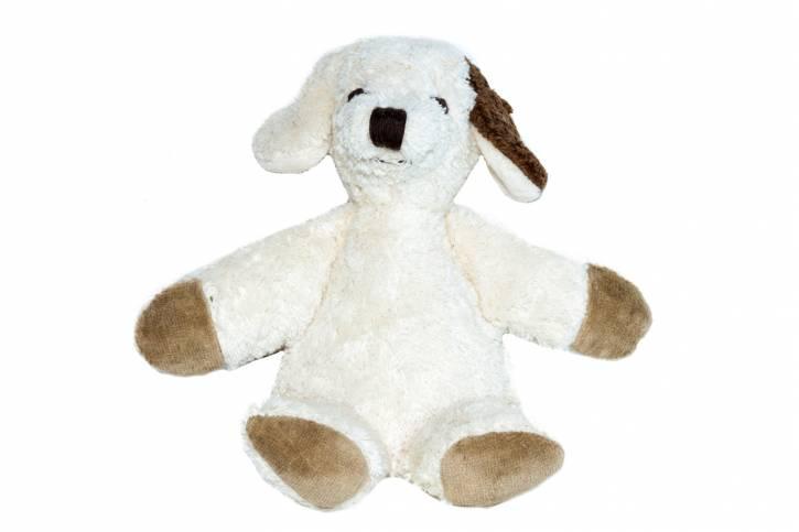 Kuscheltier Hund Knuffel von Kallisto weiß