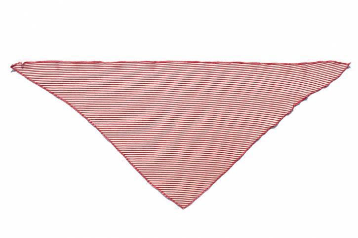 Dreieckstuch Halstuch von Lilano Rot Natur Ringel