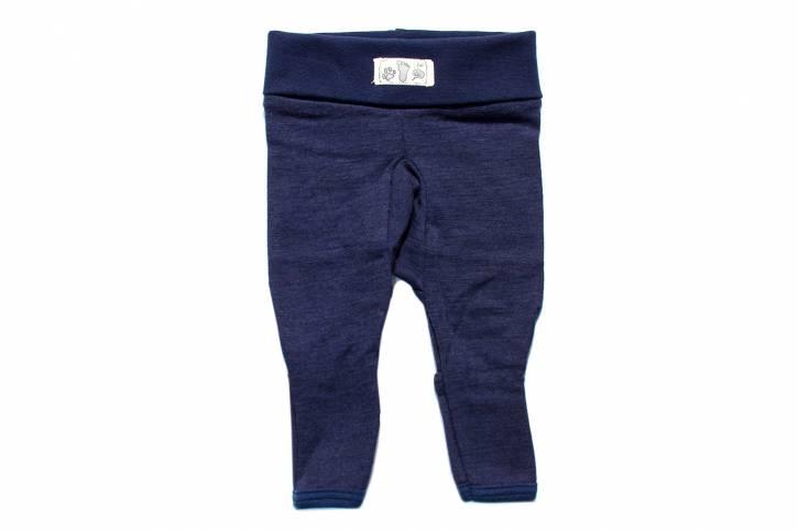 Nabelbund Hose mit Beinumschlag von Lilano Blau / 56