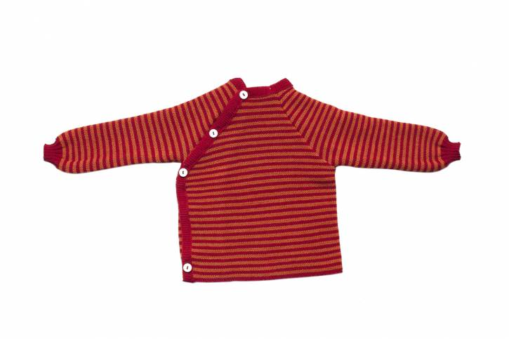 Ringelschlüttli Pullover/Jacke von Reiff burgund/cayenne / 86/92