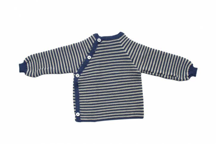 Ringelschlüttli Pullover/Jacke von Reiff ozean/natur / 74/80