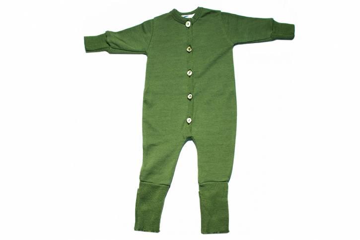 Overall Schlafanzug Frottee Merino Schurwolle Seide von Reiff apfel / 50/56