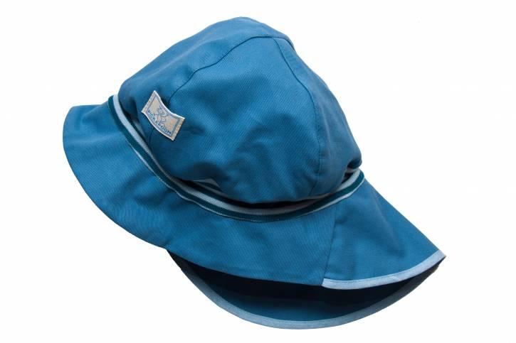 Sonnenschutz Mütze Feuerwehr UV60 aus Baumwolle von Pickapooh jeans / 42