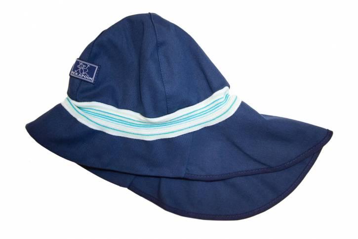 Sonnenschutz Mütze Feuerwehr UV80 aus Baumwolle von Pickapooh marine / 54