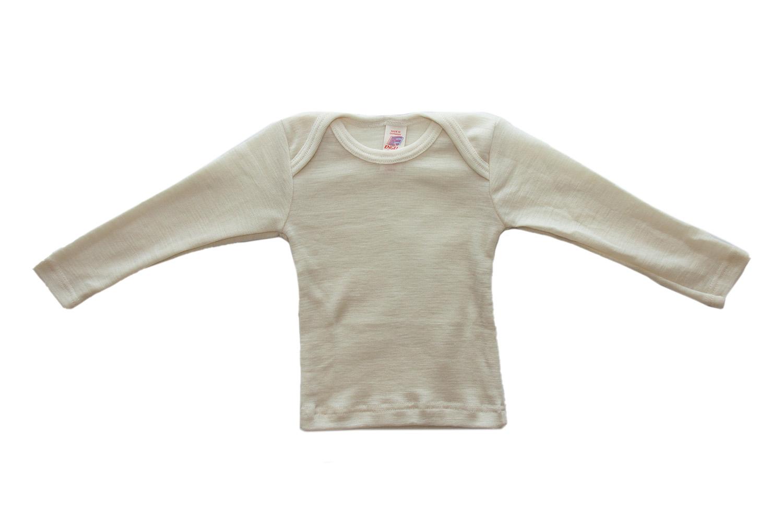 100/% Bio-Schurwolle maschinenwaschbar Engel Natur Baby-Schlupfhemd Langarm