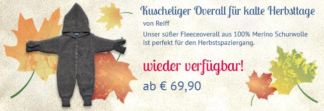 Fleece Overall von Reiff bald wieder verfügbar