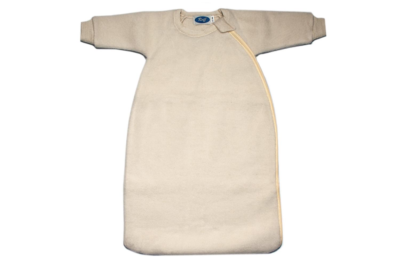 online zu verkaufen Infos für vollständig in den Spezifikationen Schlafsack Fleece Merino Schurwolle mit Arm von Reiff natur / 50/56