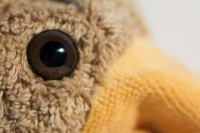 Handpuppe Vogel von Kallisto braun